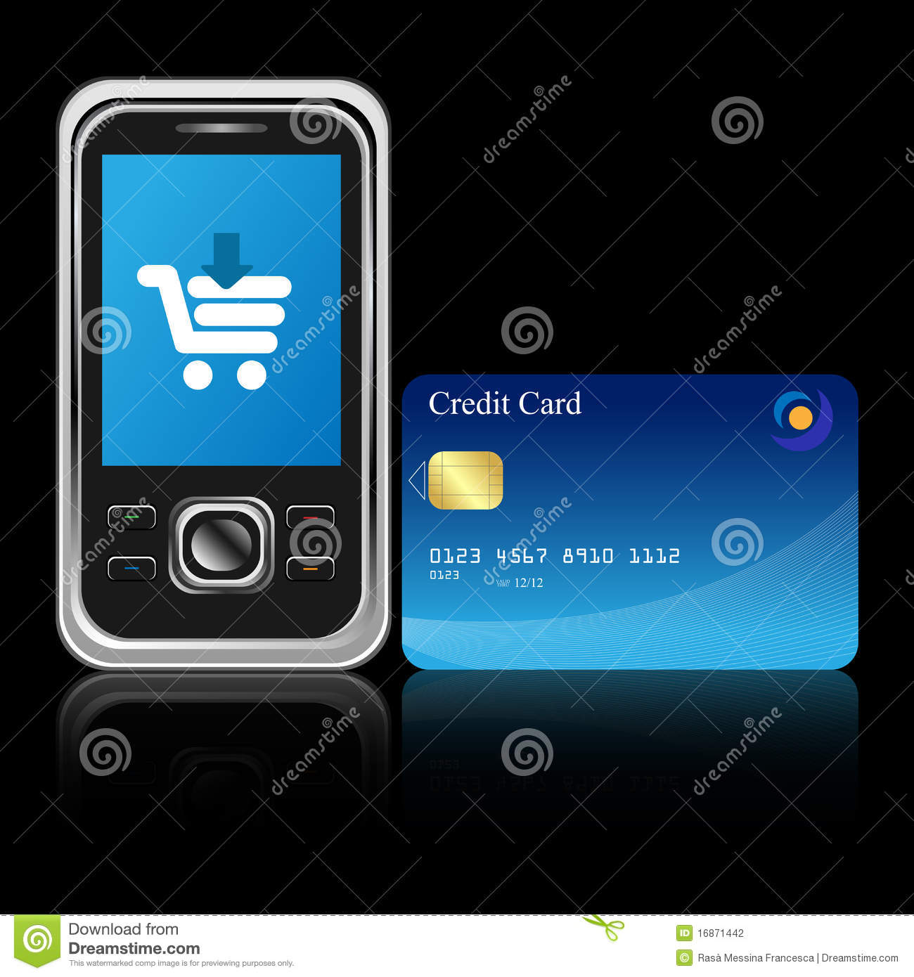 E Commerce Mobili Mobile E Commerce Stock Photography Image 16871442