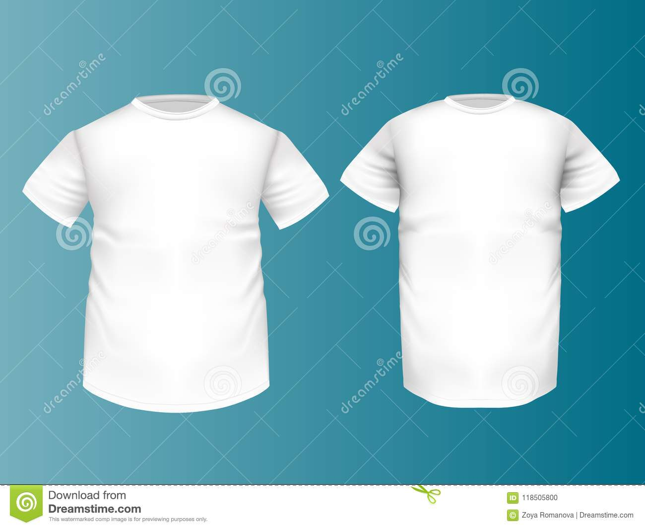 Big Xxl Mock Up T Shirt Realistic Big Size Xxl White Color Mocku Stock