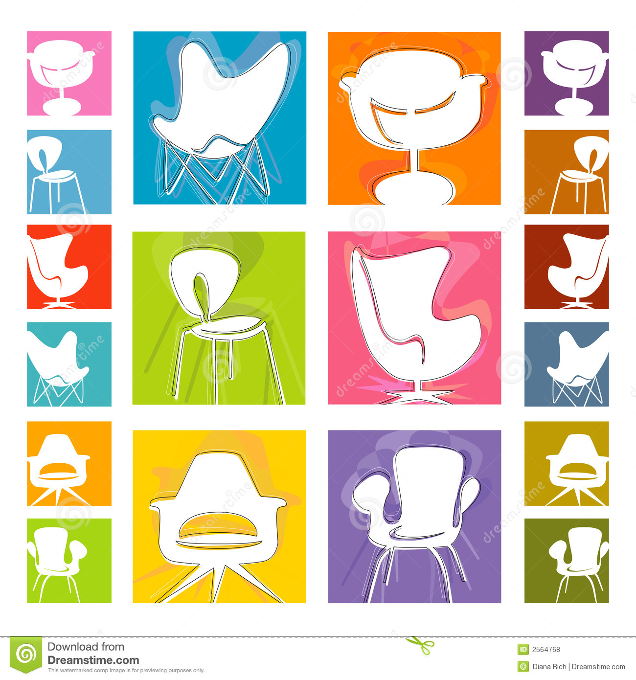 Sessel Vektor Mod Chair Icons Vector Royalty Free Stock Photos Image