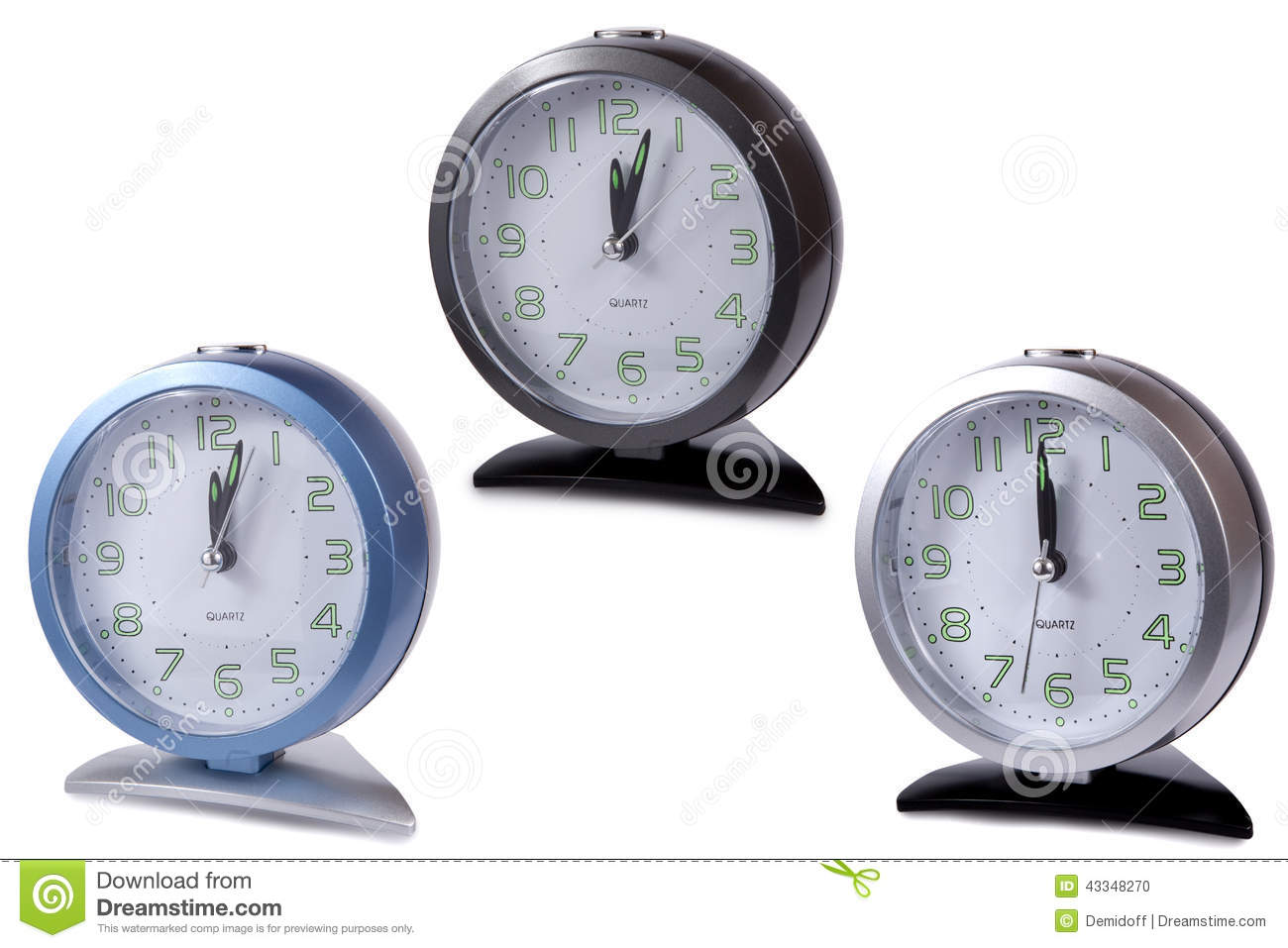 Modern Digital Clocks Modern Alarm Clock Multi Colour Stock Photo Image 43348270