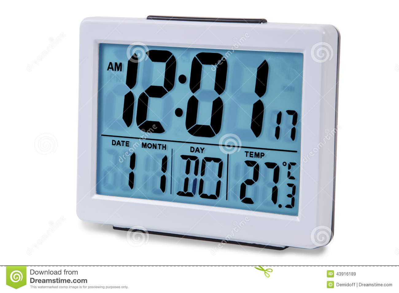 Modern Digital Clocks Modern Alarm Clock Multi Colour Stock Photo Image 43916189