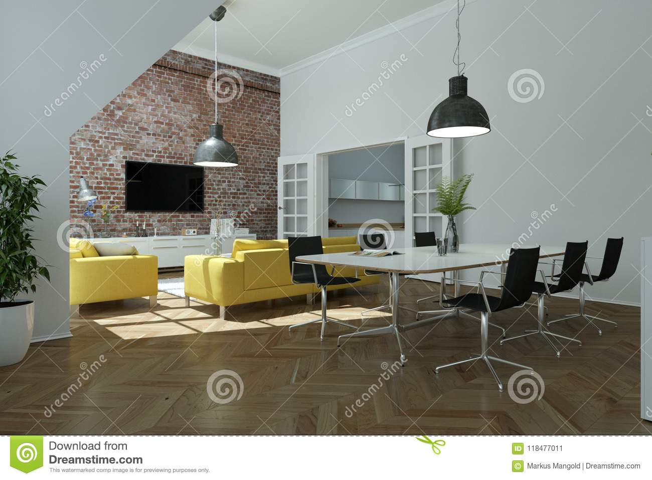 Yellow Decor For Living Room Modern Bright Skandinavian Interior Design Living Room With Yellow