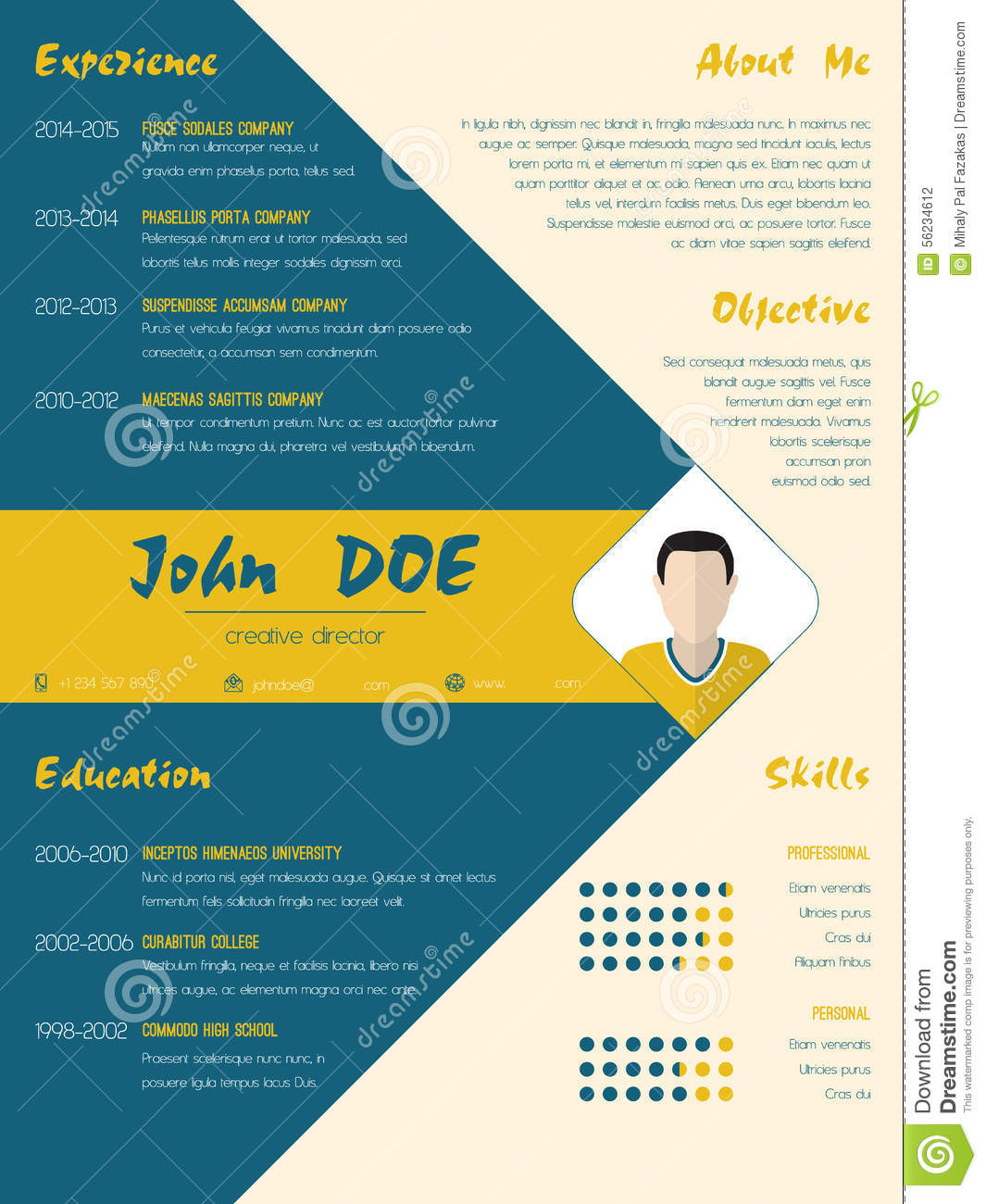 illustration cv design