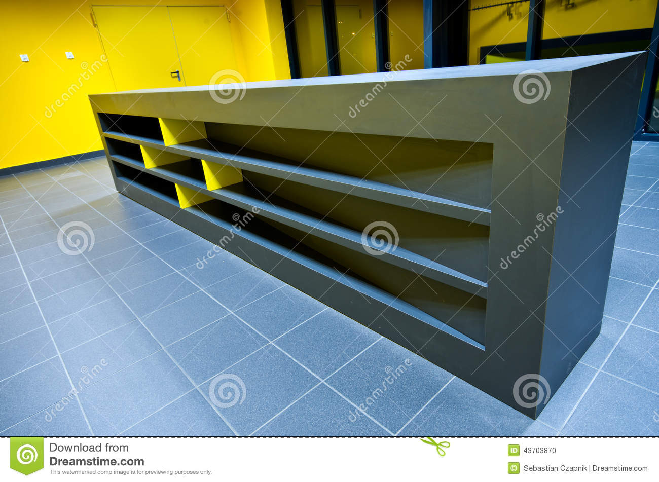 Moderne Theke Modern Design Gym Counter Stock Photo Image 43703870