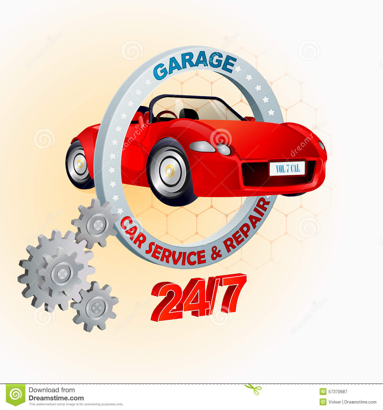Garage Design Template Modern Design Template For Garage Car Service And Repair Sign