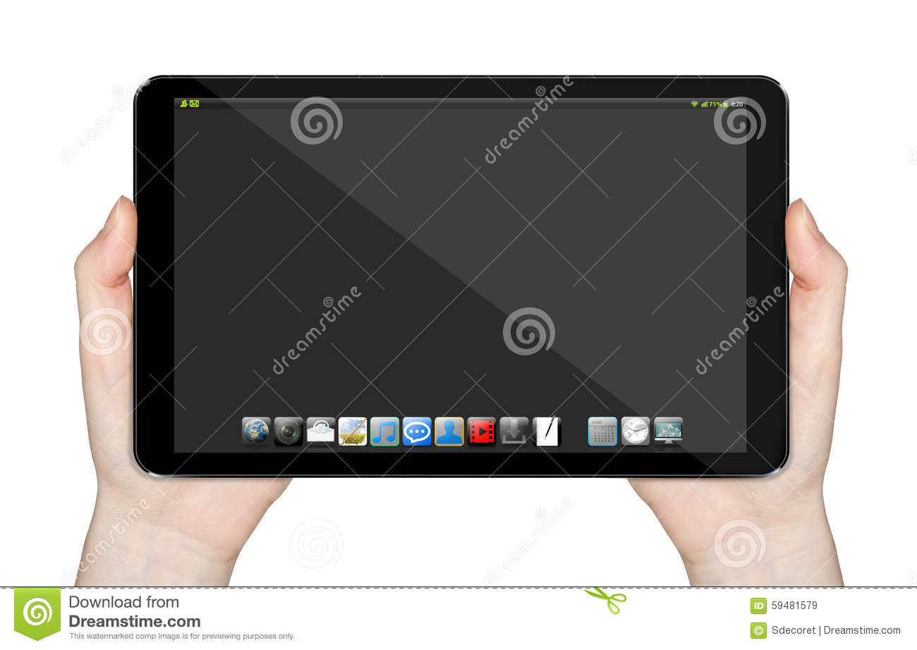 Tablett Modern Modern Digital Tablet Stock Photo Image 59481579