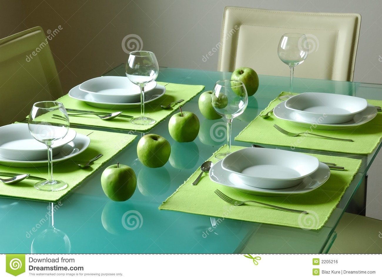 Modern Table Setting Modern Fancy Table Setting Royalty Free Stock Image