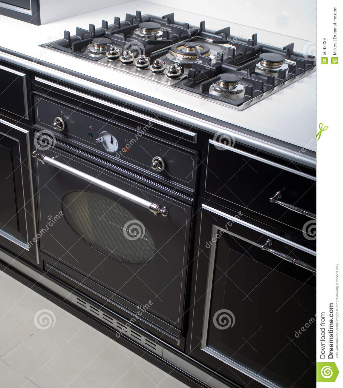 Oven Boretti Modern Gas Stove And Oven Stock Image. Image Of Stove