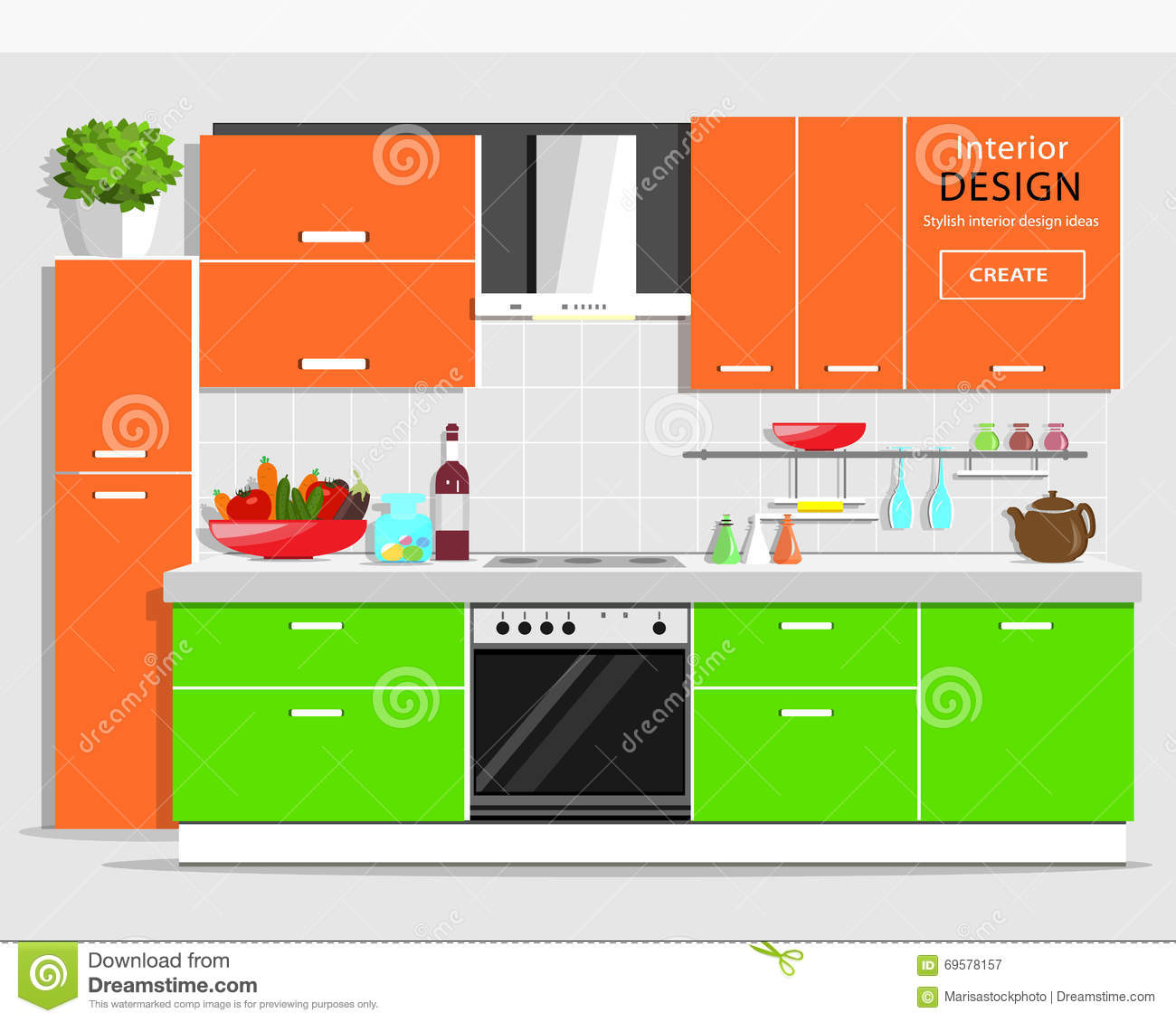 Kitchen Design App Free Download Modern Graphic Kitchen Interior Design Colorful Kitchen