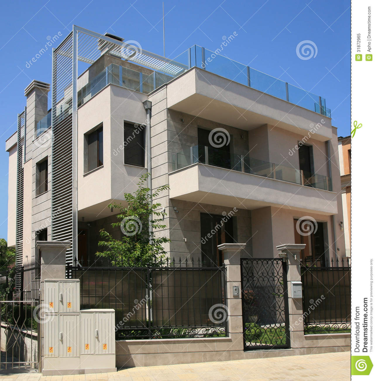Three Floor House Modern House Royalty Free Stock Photo Image 31872965