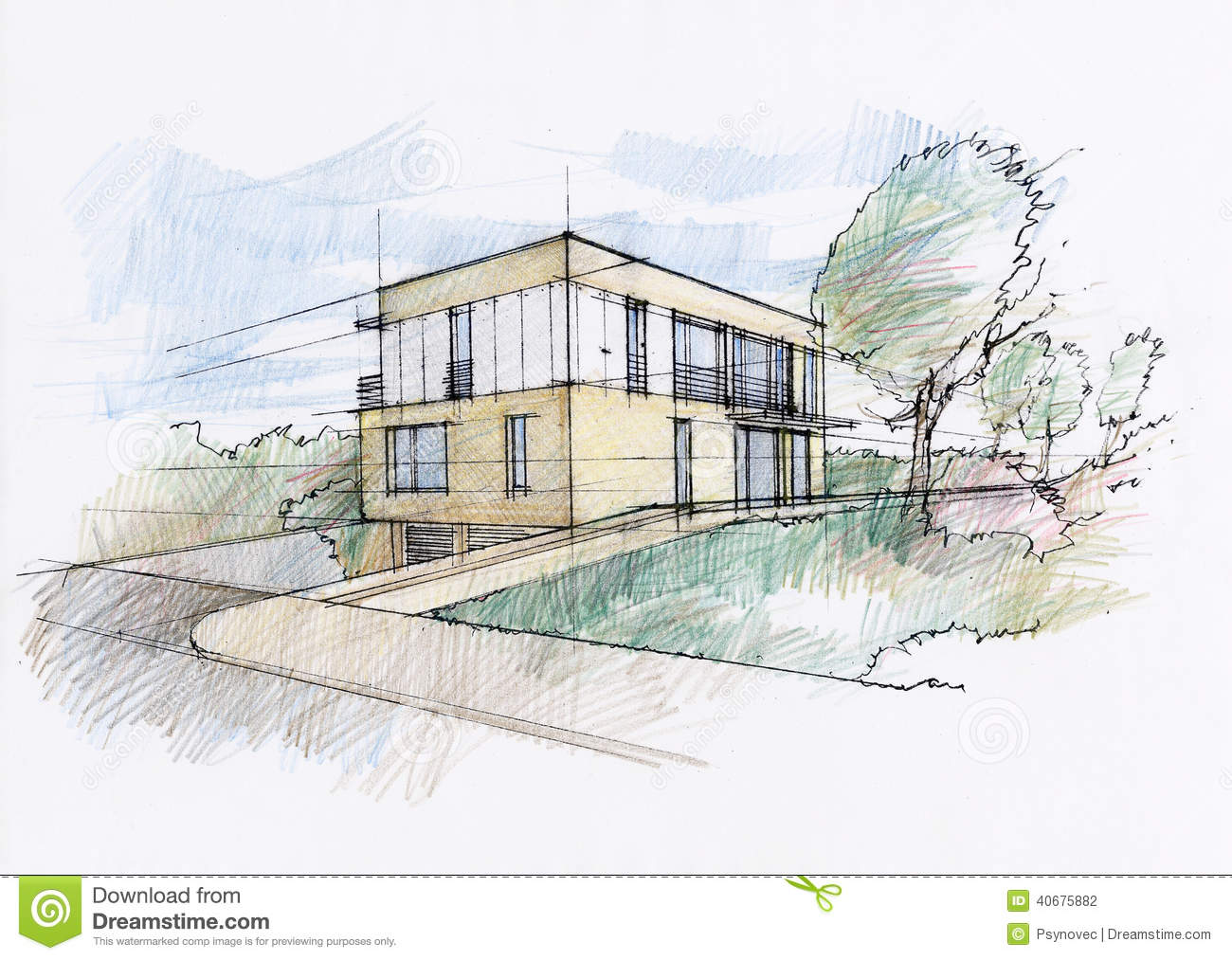 Modern Home Architecture Sketches modern home architecture sketches