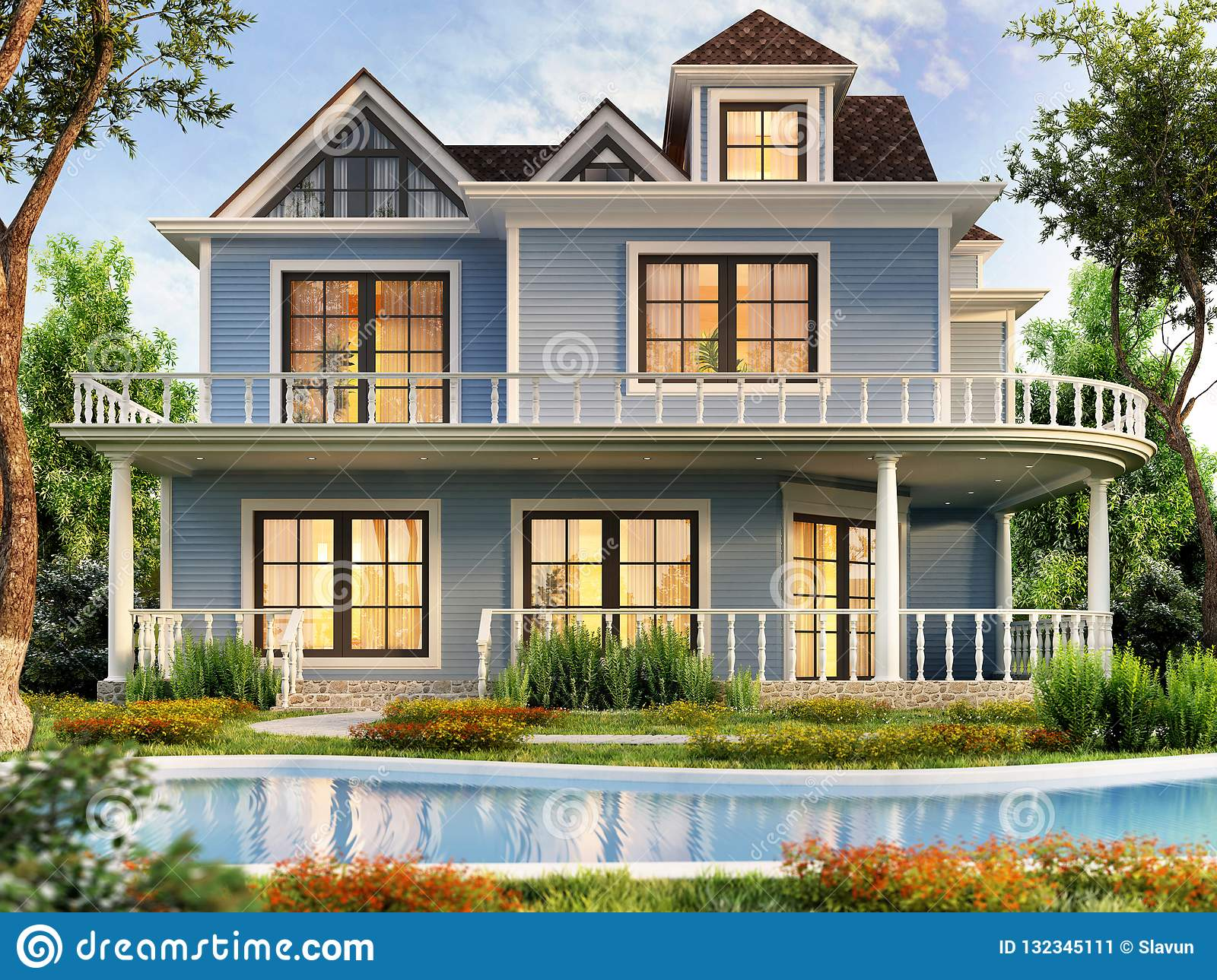 Modern House Plans With Pool Modern House Design With Swimming Pool Stock Image Image Of