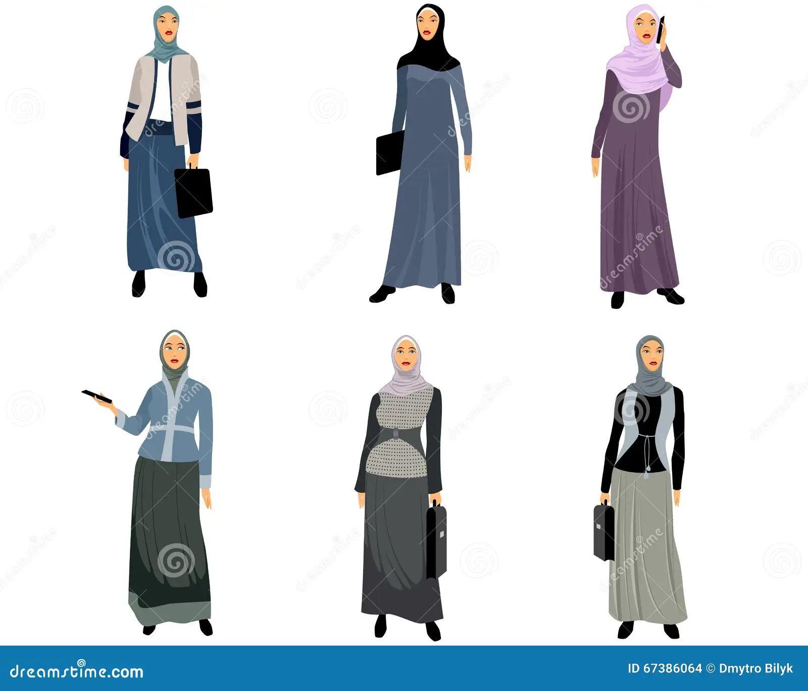 Modern muslim women stock vector image 67386064