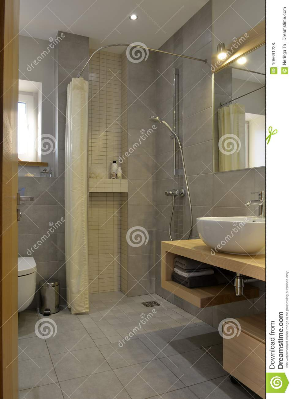 Stone Bathroom Designs Modern Bathroom Design Stock Photo Image Of Floors 105691228