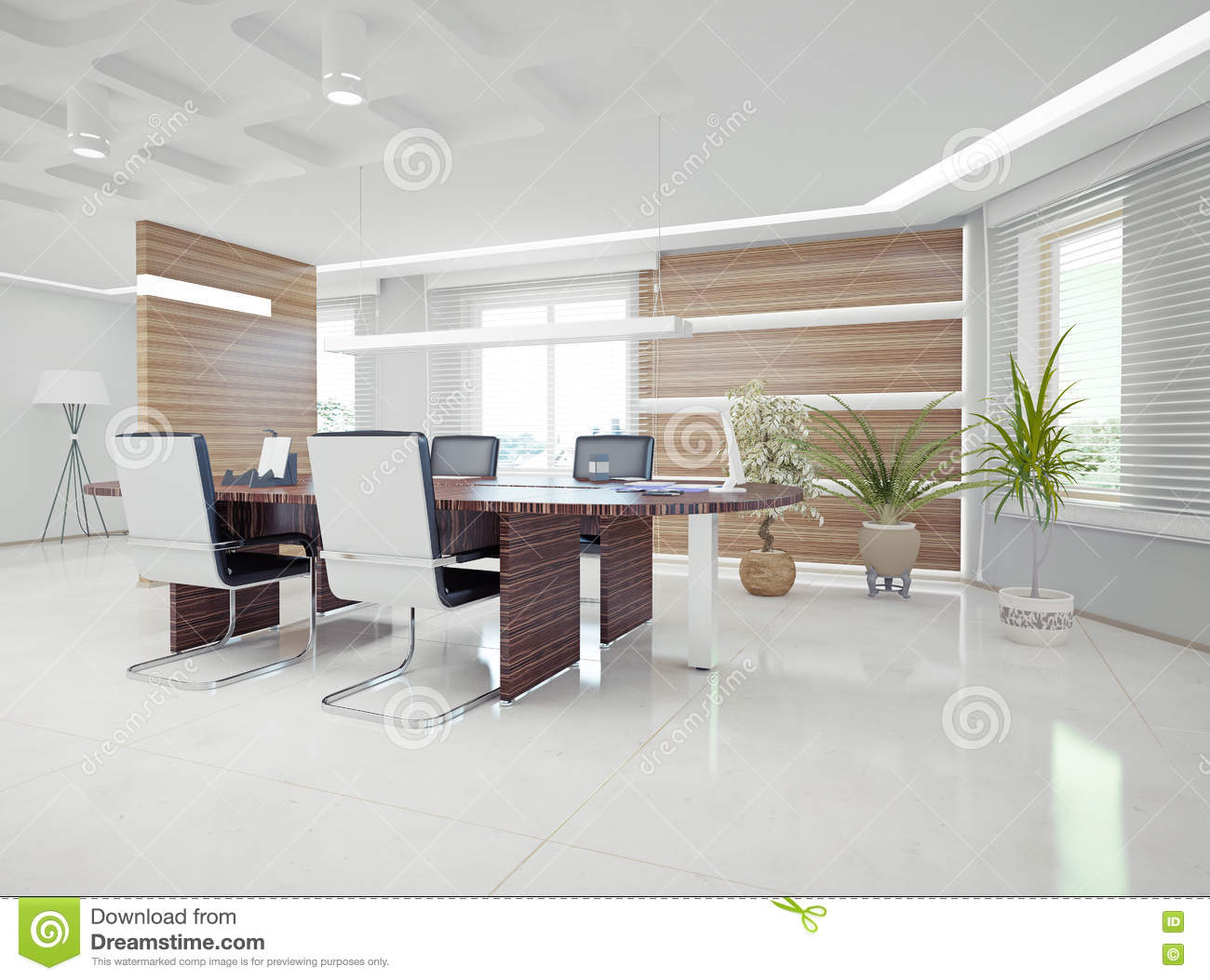 Design Interieur Concept Modern Office Interior Stock Illustration Illustration Of