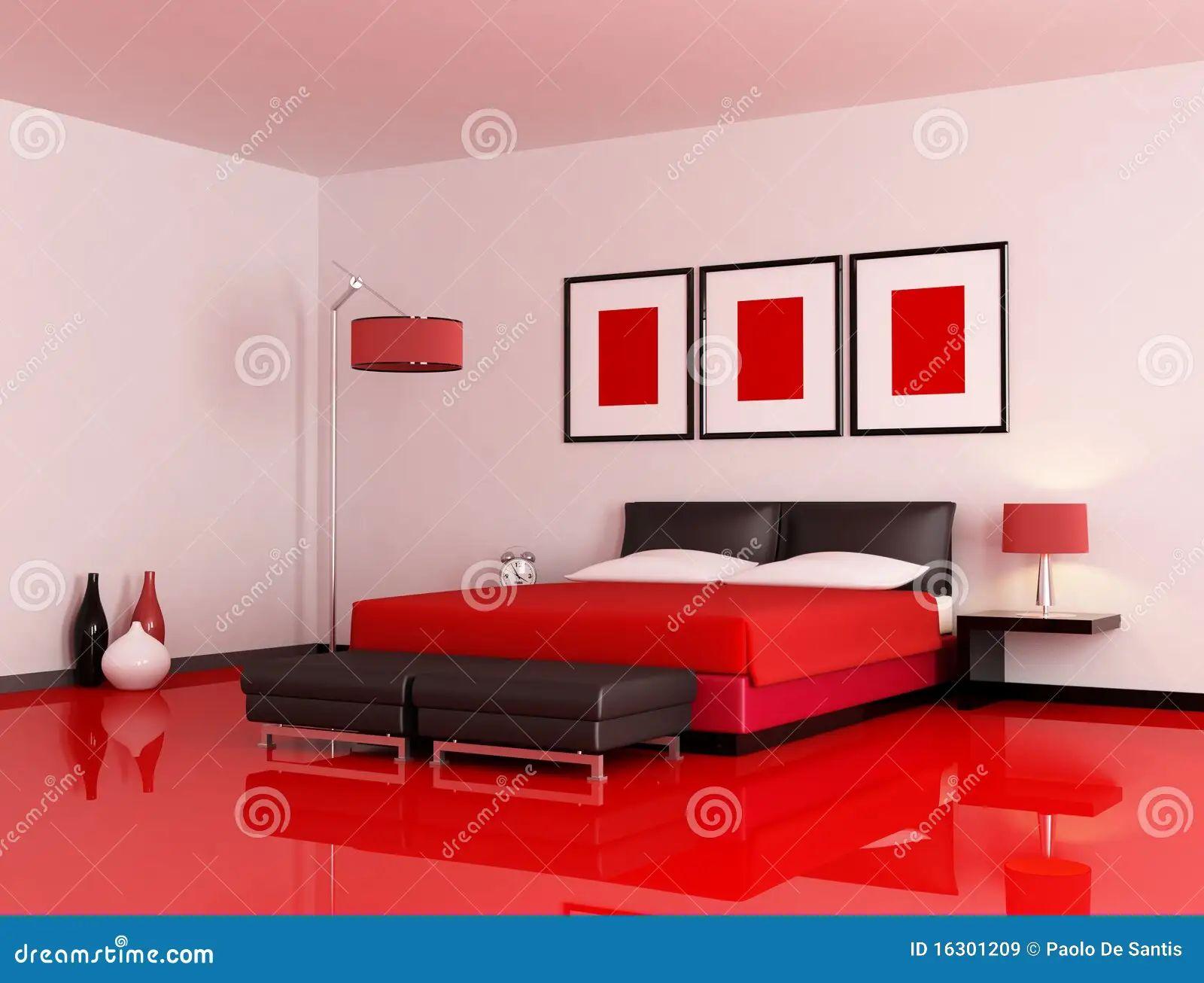Modern Bedroom Red modern bedroom red and black