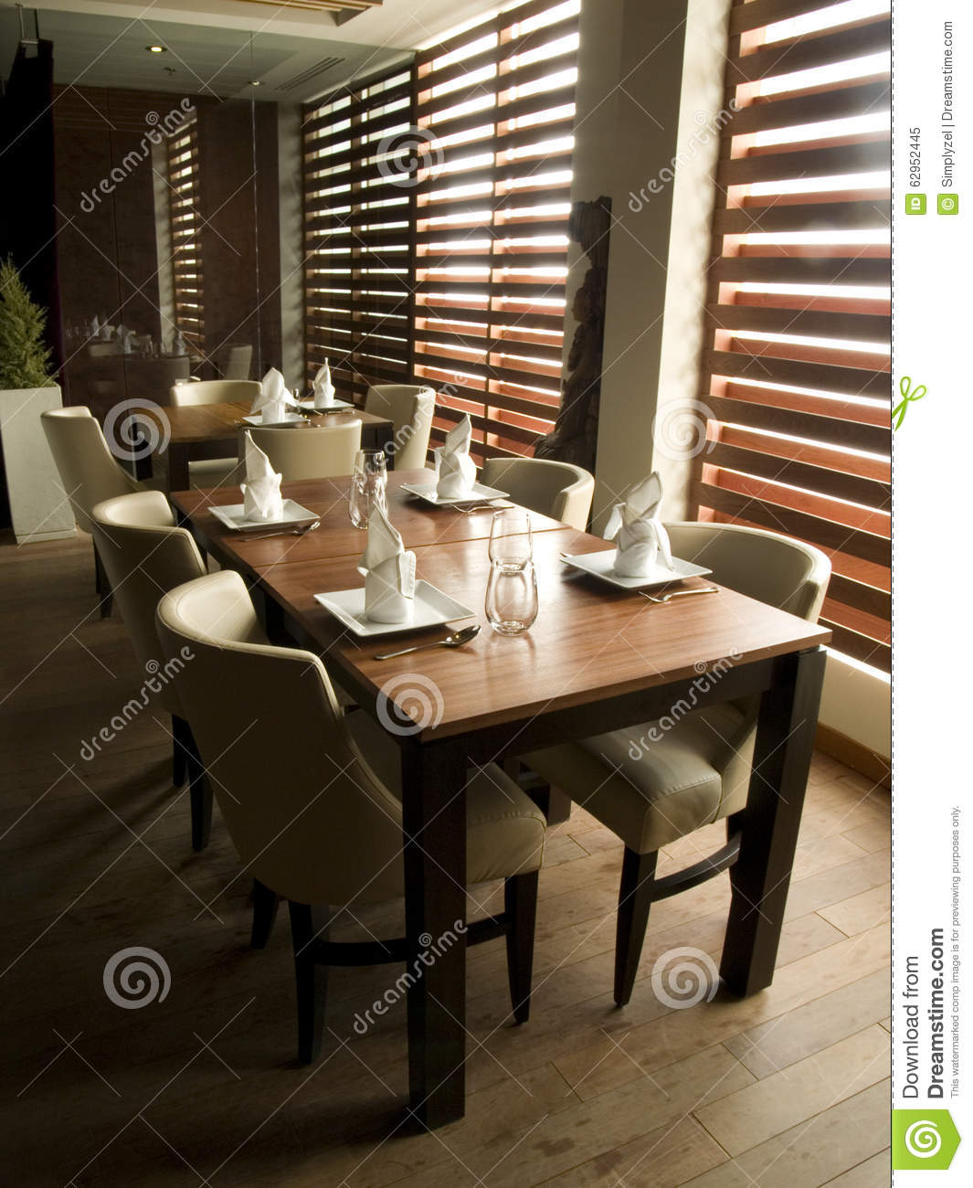 Modern restaurant table setting
