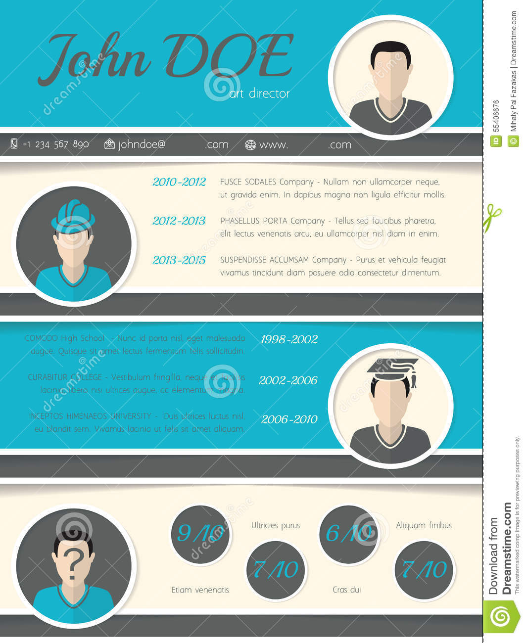 Cv Layout Download Download 12 Free Microsoft Office Docx Resume And Cv Templates Modern Resume Curriculum Vitae Template With Circle Shapes