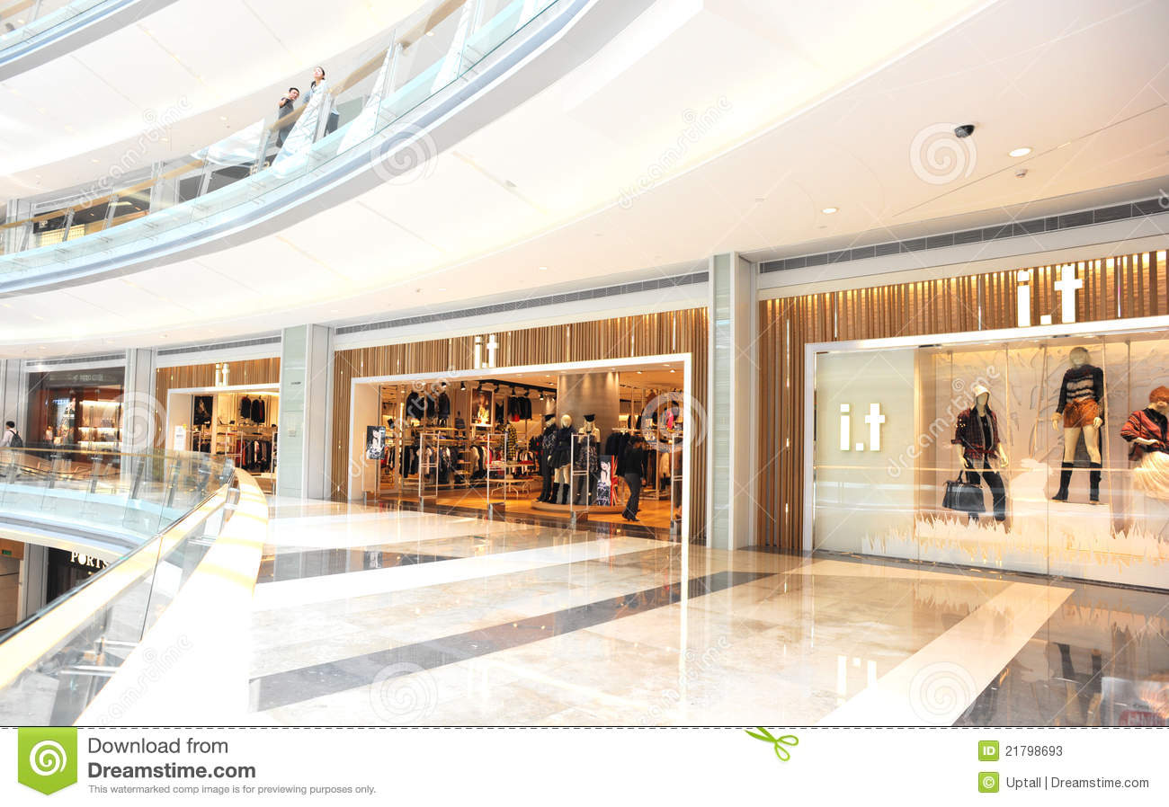 Moderne Stores Modern Shopping Mall Editorial Stock Photo Image Of