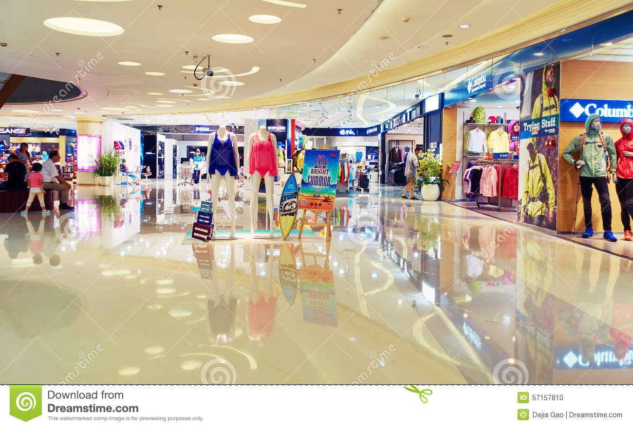 Moderne Stores Shopping Mall Fashion Store Shop Editorial Image Image