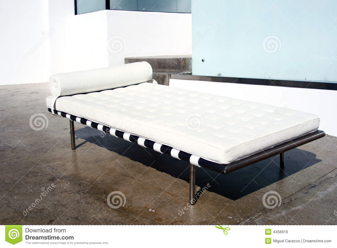 Barcelona Daybed Modern Style Barcelona Daybed Stock Photo Image Of Black Modern