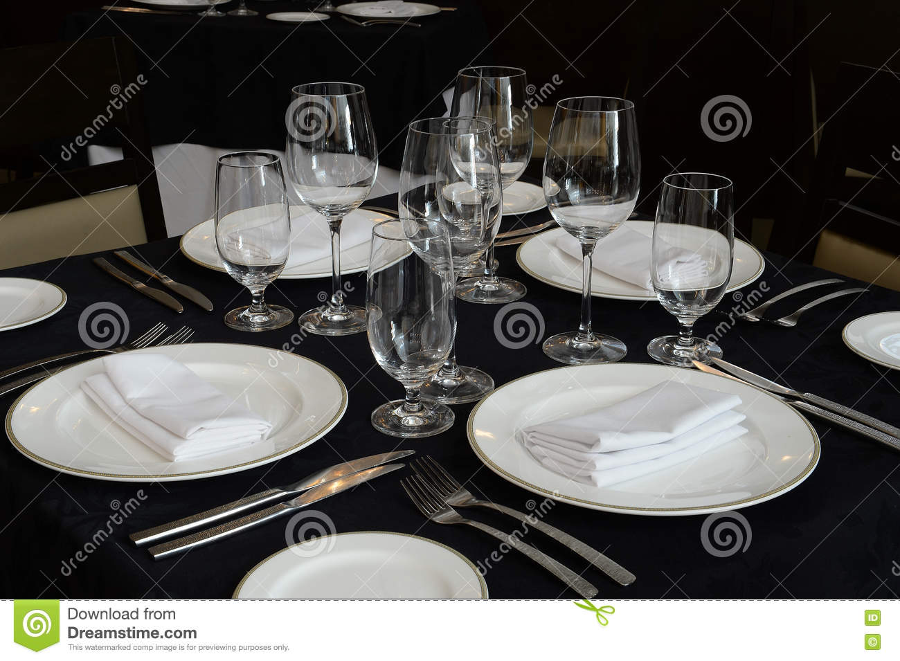 Modern Table Setting Modern Table Setting Stock Image Image Of Tablecloth