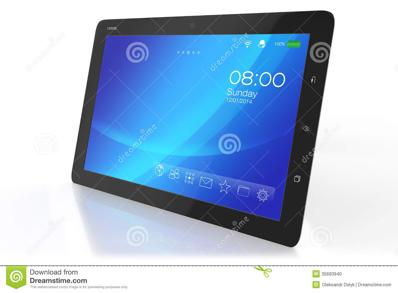 Tablett Modern Modern Tablet Pc With Interface Stock Photo Image 35683940