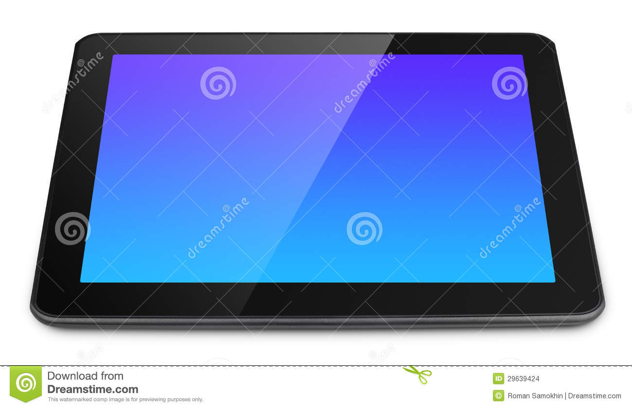 Tablett Modern Modern Tablet Pc On White Stock Images Image 29639424
