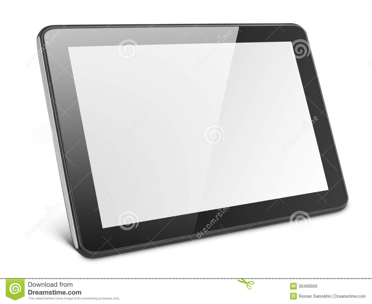 Tablett Modern Modern Tablet Pc On White Stock Photo Image Of Black