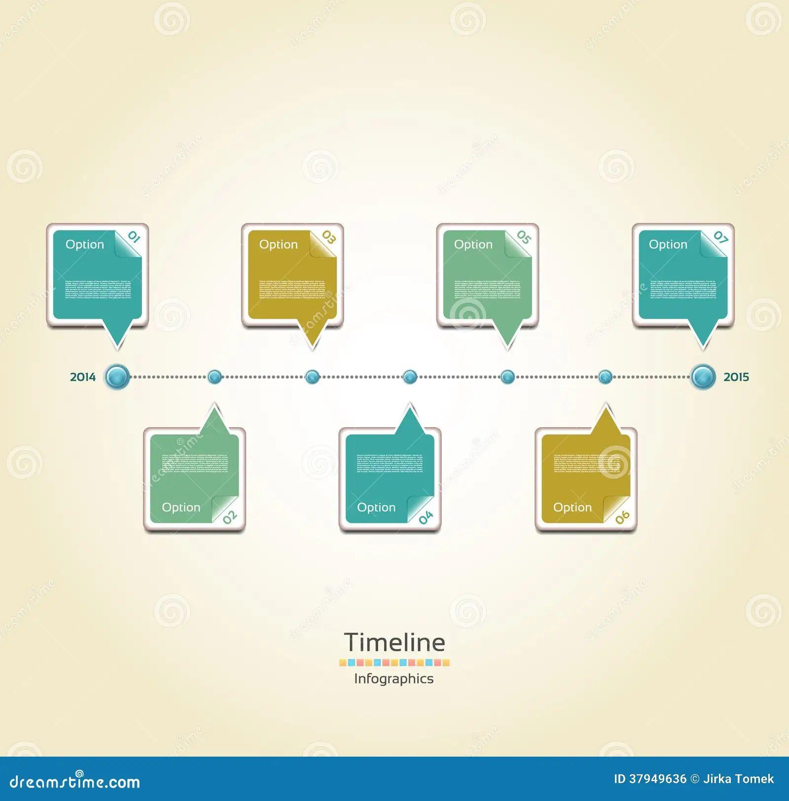 web design timeline template