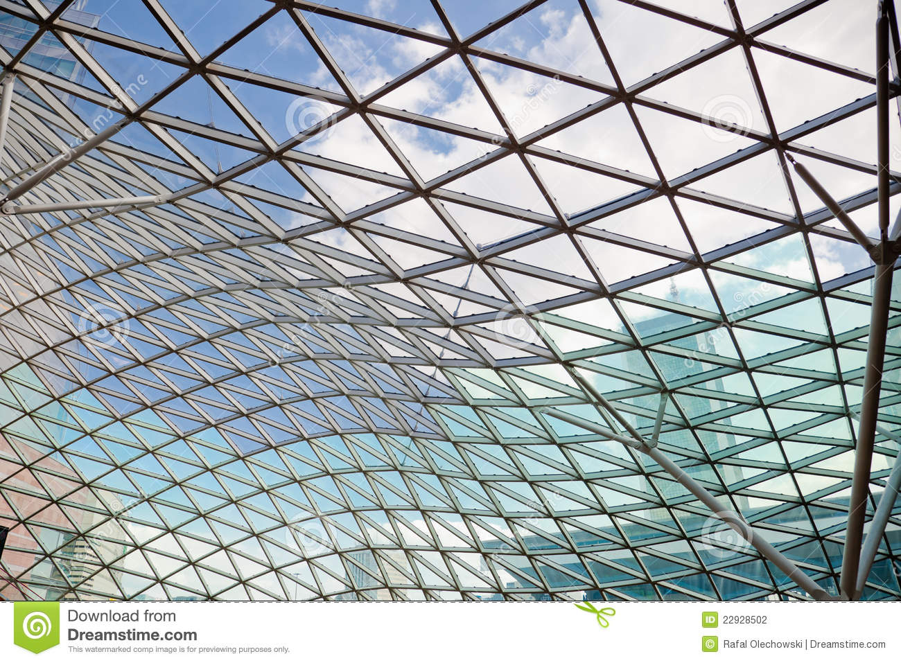 Modern Transparent Modern Transparent Glass Ceiling Stock Photo - Image Of