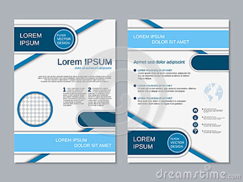 Modern Two-sided Flyer Vector Template Stock Vector - Illustration - double sided brochure templates
