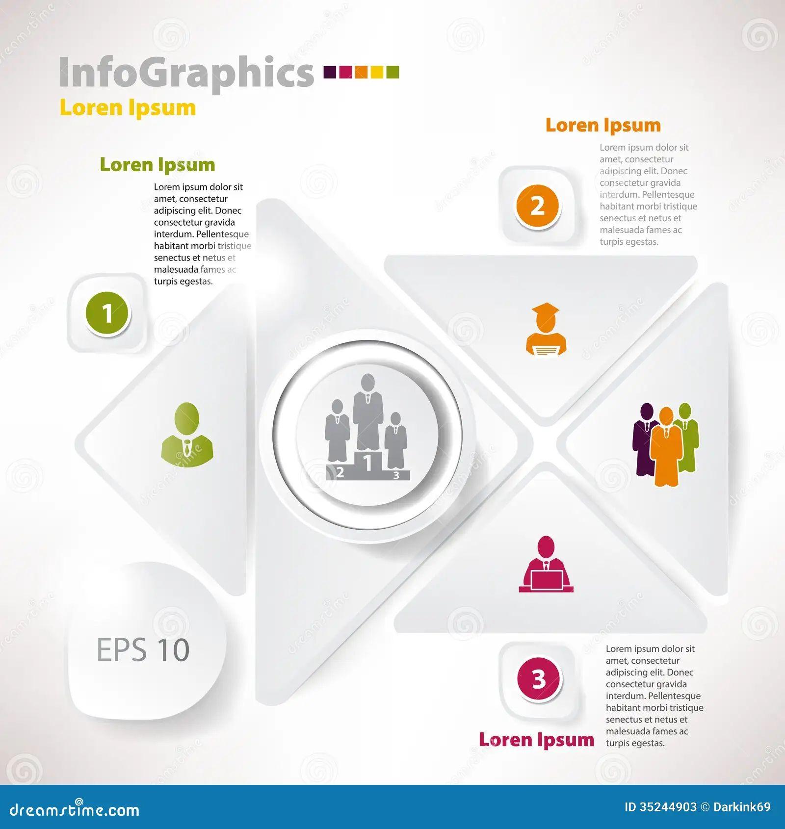 modern infographics business plan design template vector