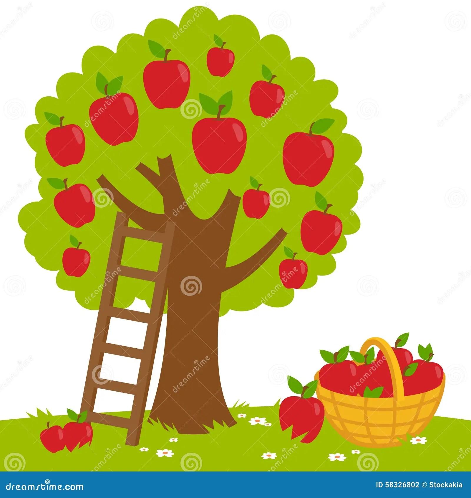 Free Fall Harvest Wallpaper Moisson De Pommier Illustration De Vecteur Illustration