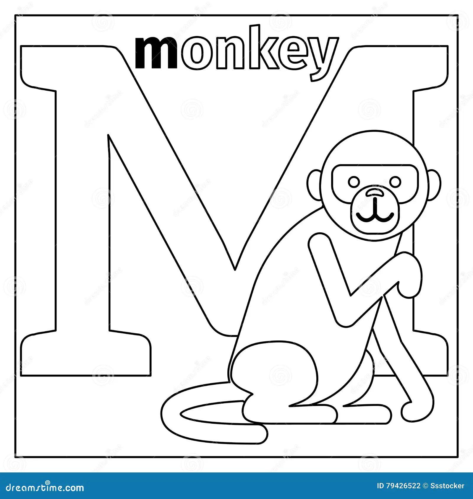 alphabet m coloring pages
