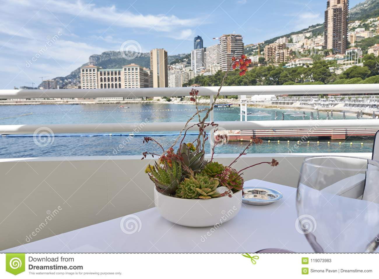 Monte Carlo Beach Hotel Montecarlo View From Monte Carlo Beach Hotel Stock Image
