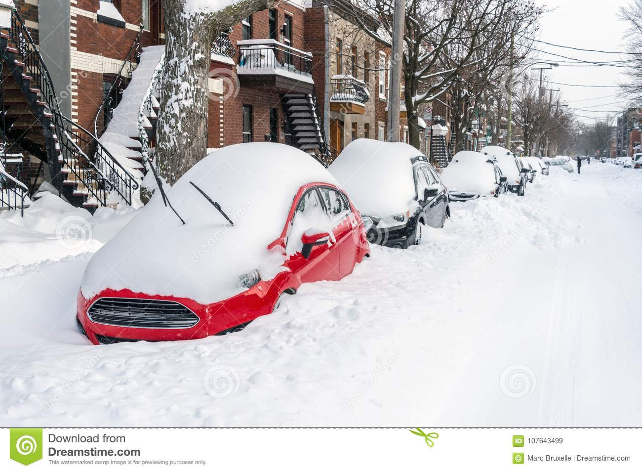 Montreal Weather Montreal Snowstorm In January 2018 Editorial Stock Image Image