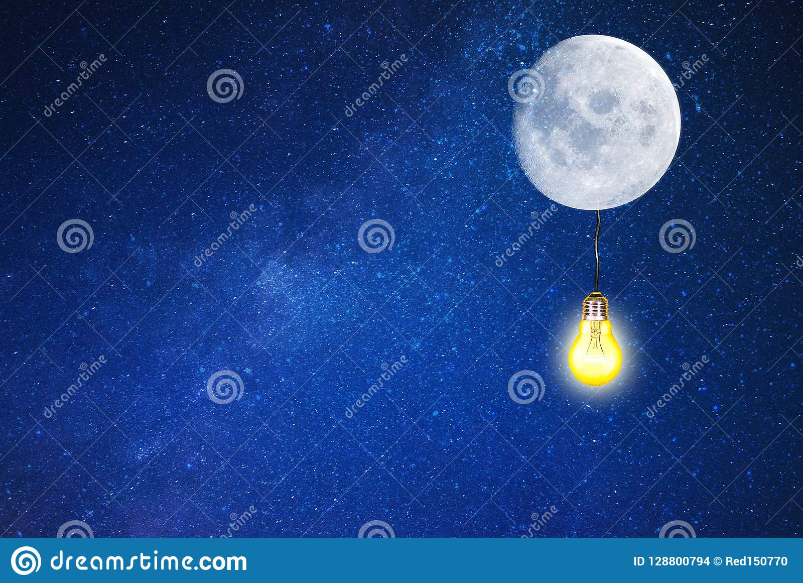 Galaxy Lighting Moon Light In Galaxy Lighting Moon Stock Photo Image Of Ighting