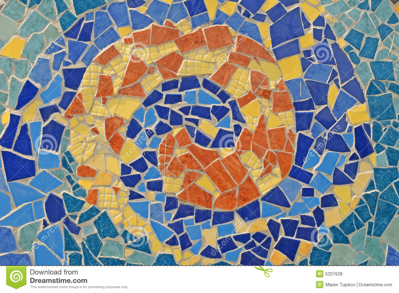 Mosaicos De Ceramica Mosaic Wall From Ceramic Broken Tile Royalty Free Stock
