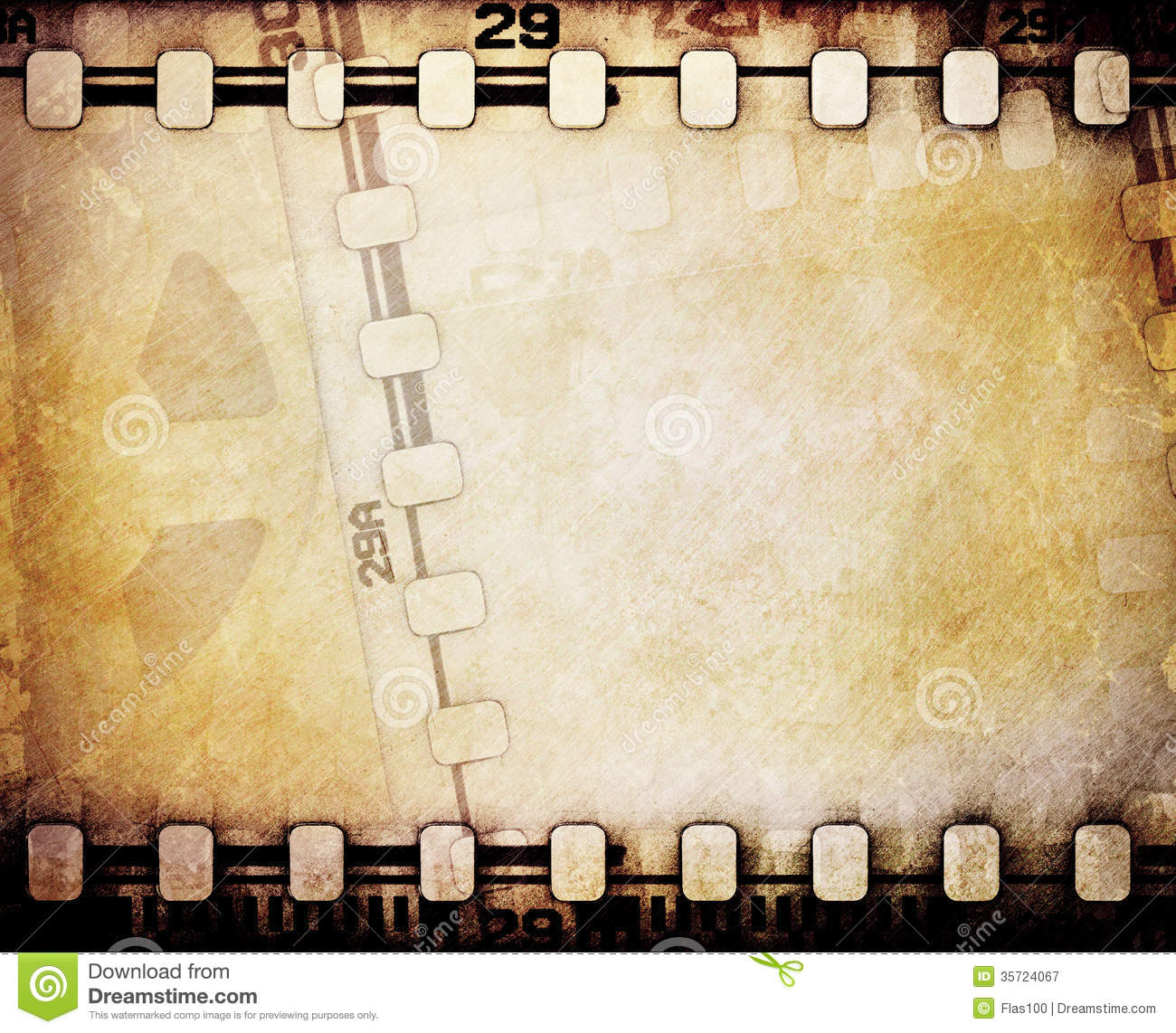 Filmstreifen Bilderrahmen Motion Picture Reel With Film Strip Stock Image Image