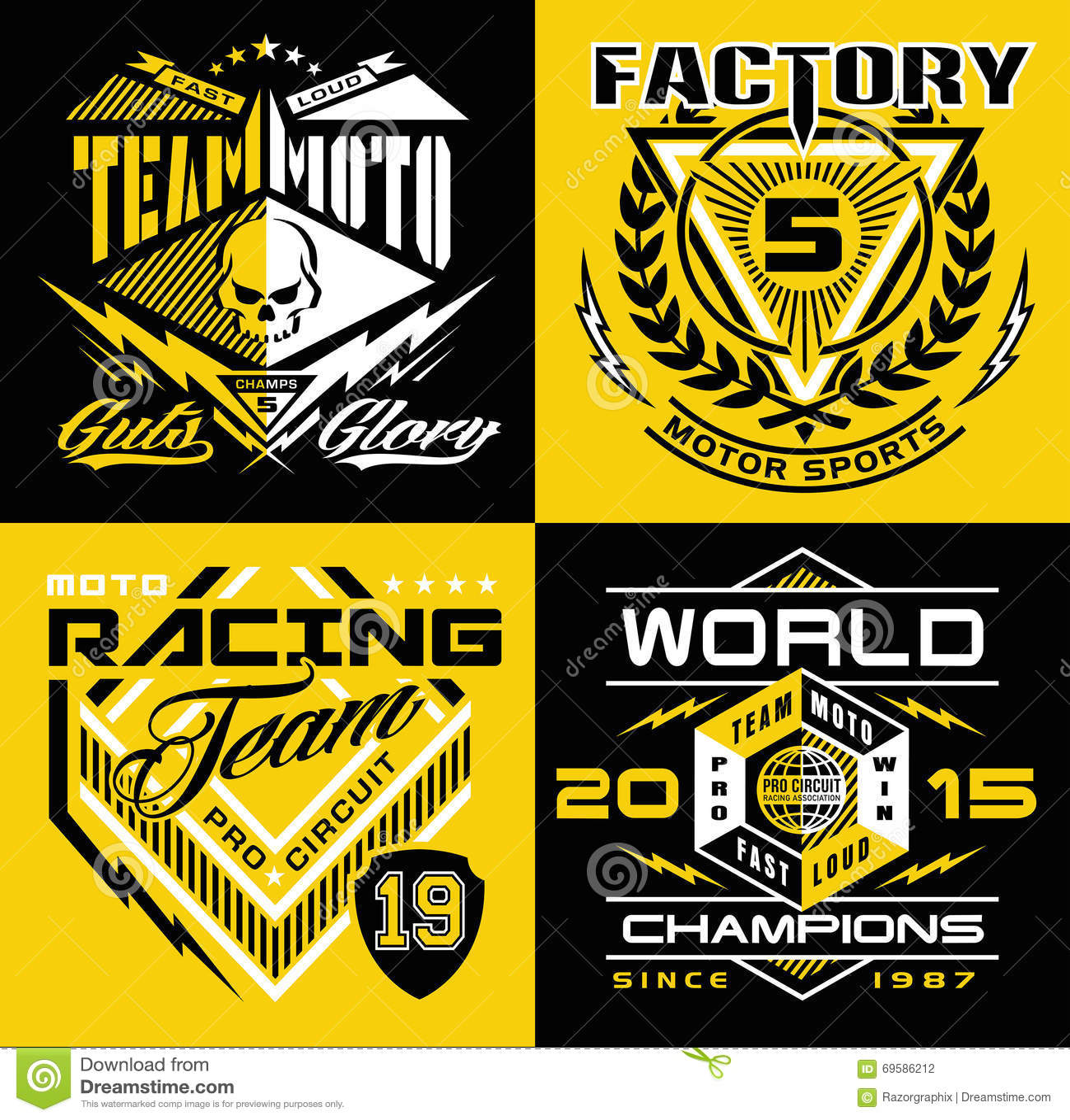 Motocross shield shirt