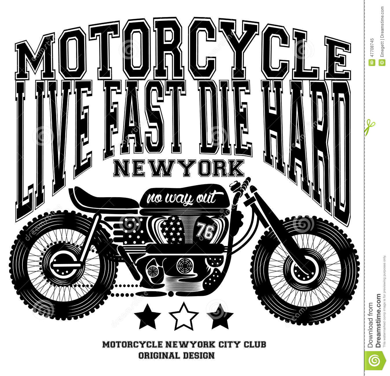 Big W Business Shirts Motorcycle Vintage New York T Shirt Graphic Design Stock