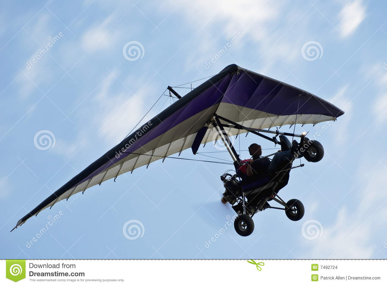Aeroplane Fly Motorized Hang Glider In Flight Stock Images - Image: 7492724