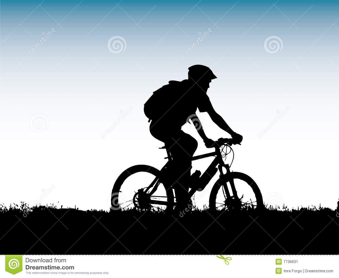 Biker Girl Wallpaper Free Download Mountain Biker Silhouette Stock Image Image 7736631