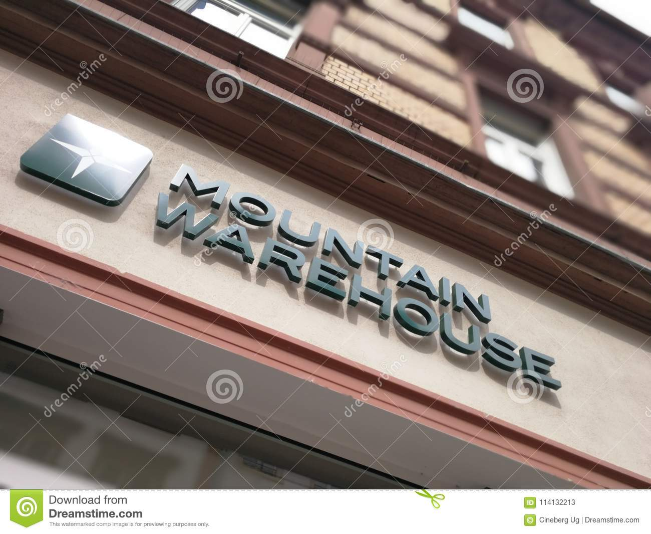 Fitness Mannheim Mountain Warehouse Store Editorial Stock Photo Image Of Label
