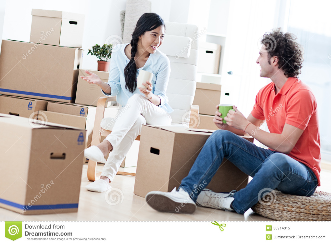Couple Apartments Moving In Royalty Free Stock Photo Image 30914315