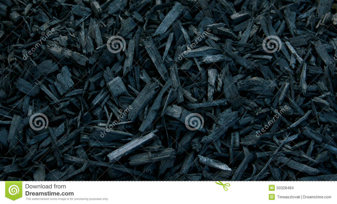 Black Bark Mulch Mulch Black Decorative Bark Stock Photo Image Of Decorative