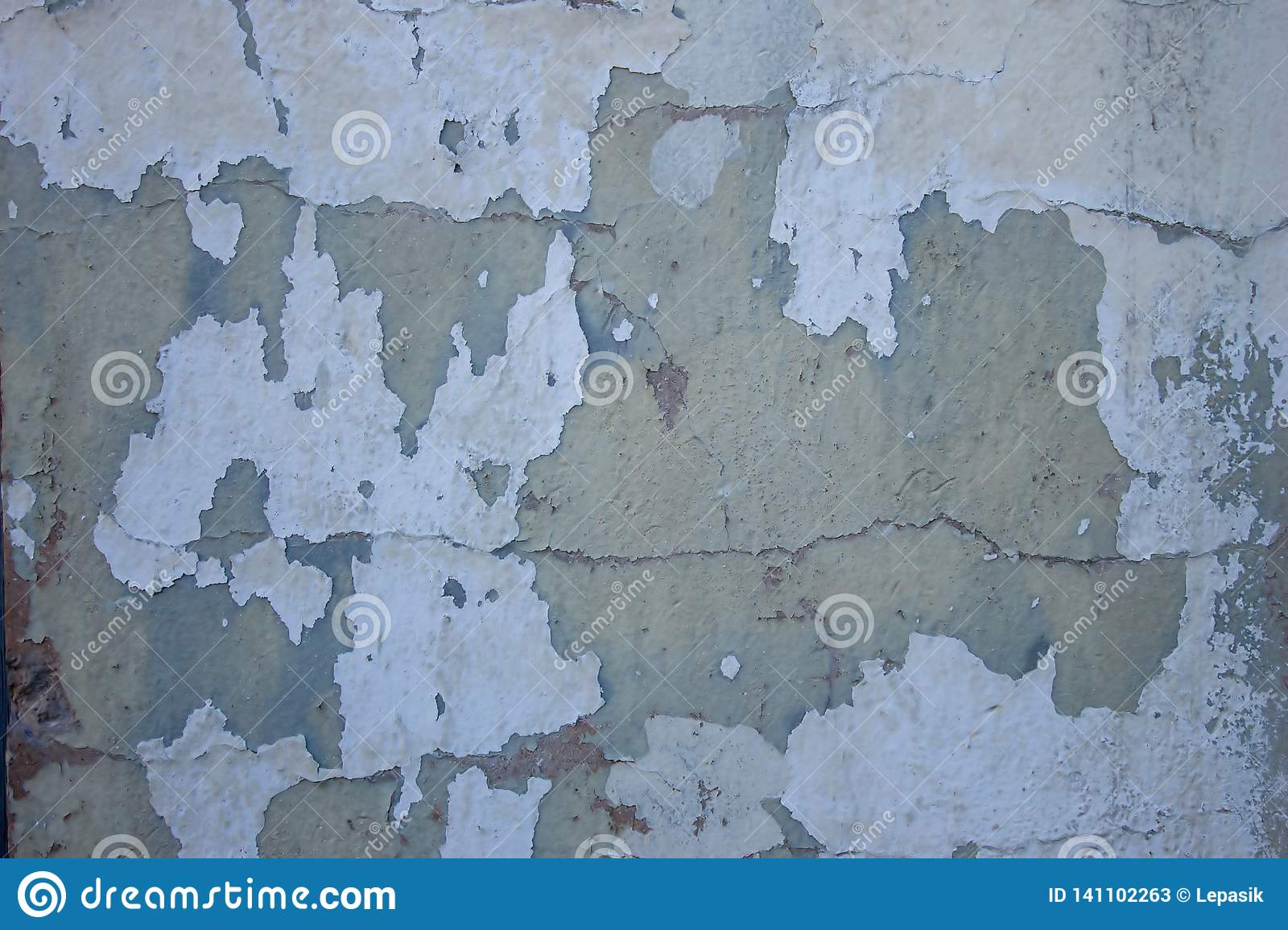 Shabby Look Multi Colored Wall With Peeling Plaster Shabby Look