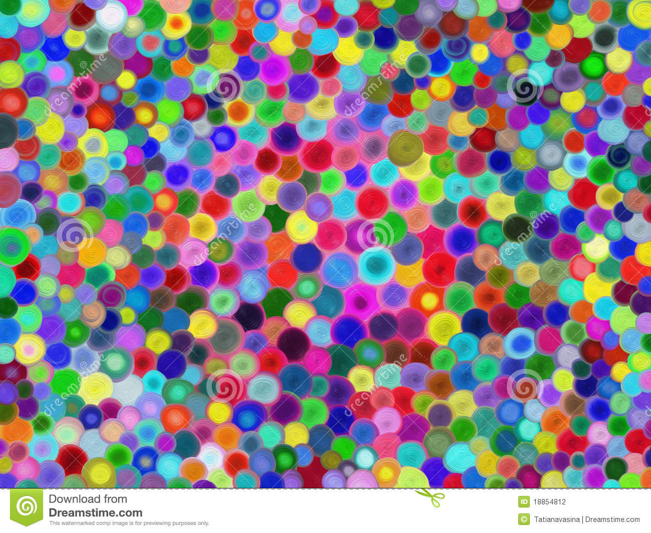 3d Rainbow Psychedeli Wallpaper Multicolored Circles Stock Photography Image 18854812