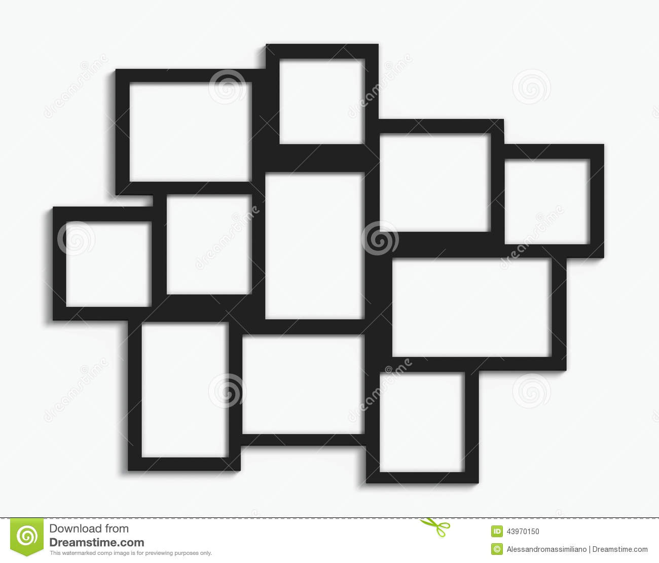 Cadre Photo Multiple Multiple Frames Stock Photo Image Of Exhibition Decoration